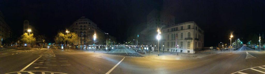 Barcelona en el toc de queda
